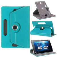 Wholesale Android Tab Inch - Tab Leather Case 360 Degree Rotate Protective Stand Cover For Universal Android Tablet PC Fold Flip Cases Built-in Card Buckle 7 8 9 10 inch