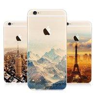 Wholesale Skin For Iphone Paris - For iphone 5 5s 6 6s plus 15 Designs Soft TPU Skin Case Back Cover Empire Building London Big Ben Paris Eiffel Tower