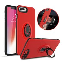 Wholesale Bracket Fitting - Car Holder Stand Magnetic Suction Bracket Hybird Phone Cover Case For iphone X 8 7 6s 6 Plus Samsung Note 8 S8 Plus J710 With Retail Package
