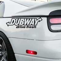 DUBWAY Drive Fresh Sticker Euro JDM Stance Decalcomania in vinile