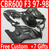 Wholesale Honda Cbr 1997 - New Matte black Motorcycle fairing kit for Honda CBR 600 F3 CBR600F3 1997 1998 High Quality fairings parts CBR600 F3 95 96 DKA6