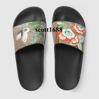Wholesale rubber slippers for mens resale online - 2017 fashion tian bird butterfly flower slides sandals rubber slippers for mens and womens outdoor beach causal flip flops