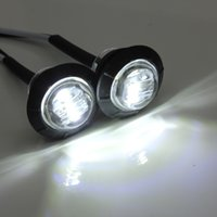 Wholesale 2 x V Am Left Right Whtie Side Marker LED Light Lamp For Car Truck Trailer Pickup