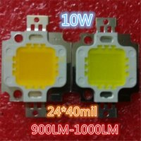 20PCS 10W LED Integrated High Power LED Beads Branco / quente branco 300mA 18-36V 900-1000LM 24 * 40mil Taiwan Huga Chips