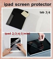 Wholesale Ipad Clear Screen Covers - high clear Screen Protector Guard Cover Film Shield for iPad Mini ipad air ipad 2 3 4 5 tab3 4 lenovo tablet film for touch screen SSC003
