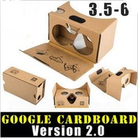 Wholesale 3d Active Shutter Wholesale - Google 2 2.0 Version Cardboard Glasses DIY 3D VR Boxes Virtual Reality V2 Viewing Carton Google Glasses for iphone 7 6s 6 plus s7 s8 s8plus