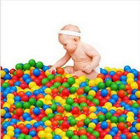 Wholesale 100PCS Wholesales Colorful Ocean Fun Balls Pits Play Toy Tent Balls Ocean Pool Balls size