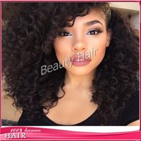 Wholesale Piano Tie - Deep curly short bob wig full lace human hair wigs lace front wig with baby hair
