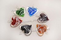 2016 HOT DIY Charm European Beads Heart Multi-Color Lampwork Murano Pendentifs en verre Colliers Wholesale Retail FREE # pdt167 c