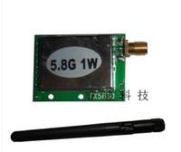 Wholesale Video Transmitter 1w - 1PCS LOT 5.8G 1W wireless audio and video transmitter module+free shipping