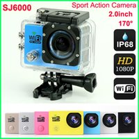 1080P Full HD WIFI ação Câmera Original SJ6000 Sports Waterproof Camera 170 ° Mini Camcorder Capacete Câmera 2Inch LCD 12MP H.264 Car DVR