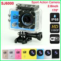 Wholesale sj6000 for sale - 1080P Full HD WIFI action Camera Original SJ6000 Sports Waterproof Camera Mini Camcorder Helmet Camera Inch LCD MP H Car DVR