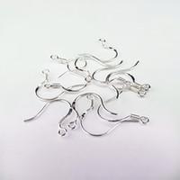 kulak gümüş için kanca toptan satış-925 Gümüş Lehçe Küpe Bulma Fransız Kulak Tel Kanca STERLING GÜMÜŞ Fransız HOOKS 925 EarWires Kulak