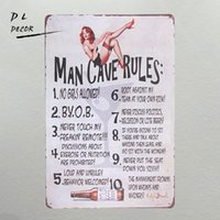 Wholesale perfect holiday gift for sale - DL Looking for a rules sign for the man cave gift perfect for any guy that loves to hang out in the cave
