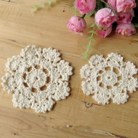 """Wholesale Free Crochet Doilies - Free shipping COLORFUL cotton hand made Crochet Doily  cup mat, ,cup pad,coaster 6CM 2.4"""" crochet flower 20 PCS LOT CD066"""