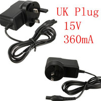 Wholesale Shaver Power Cords - New Arrival High Quality Universal AC For DC 15V Power Charger Adapter Cord for PHILIPS Norelco HQ HS 8 9 Shaver UK Plug