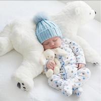 Wholesale Polar Pillow - Newborn Baby Pillow Polar Bear Stuffed Plush Animals Kawaii Plush Baby Soft Toy Kids Toys For Children's Room Decoration Doll