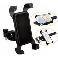 suporte suporte caso stand venda por atacado-Titular da bicicleta caso da bicicleta preta para o telefone móvel suporte de viagem universal acessório suporte plástico com rotação de 360 graus para samsung iphone