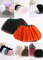 Wholesale Mid Calf Length Skirts - Girls Tutu Dresses 7 Designs 20 Colors Ball Gown 4-8 Layers Princess Ballet Skirts Ribbon Bow 3-8T