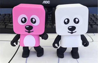 Wholesale Christmas Presents For Kids - Bluetooth Dancing Dog Speakers Toys Mini Cubic Puppy Dog Robots Cute Action Figures Christmas Gifts for Kids Presents