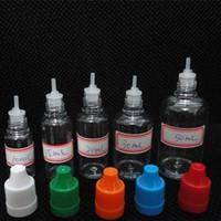 Wholesale Ecig Plastic Bottles - 5 10 15 20 30 50 ML PET Plastic Bottle With Needle Cap Empty Dropper Bottles Ecig Child Proof plastic dropper bottle E-Cigarette