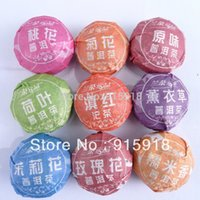 Wholesale 9PCS Different Flavors Puerh Tea One Set Pu er Slimming Ripe Raw Tea Black Tea