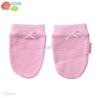 Wholesale Infant Cotton Finger Gloves - Wholesale-Baby Supplies Armfuls Newborn Organic Cotton Glove Infant Anti Grasping Gloves Baby Mittens Baby Care Luvas para bebe Free Ship
