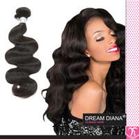 Wholesale Queen Virgin Hair 5a - Mocha Hair 5a Brazilian Virgin Hair Ali Queen Hair Brazilian Virgin Hair 4 Bundles Body Waves 1B 100 Human Hair Thick Top Hair Extensions