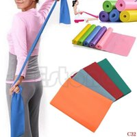 Wholesale Cheapest Resistance Bands - Hihg Quality! 2014 New Cheapest Exercise Pilates Yoga Dyna Resistance Abs Workout Physio Aerobics Stretch BandC32 order<$18no track