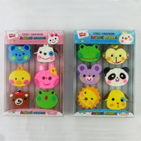Wholesale Novelty Animal Erasers - pencil erasers rubber student prizes cute for kids eraser lot cartoon novelty stationery school supplies kawaii zoo animal