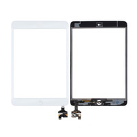 Wholesale Ipad Mini Oem - OEM iPad mini Digitizer Touch Screen Front Glass Assembly with IC Chip + Home Button + Camera Holder + PreInstalled 3M Adhesive Tape
