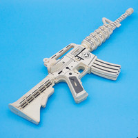 Wholesale Wooden 3d Puzzles Guns - Wholesale new children small baby tuba M4 wooden jigsaw puzzle 3d puzzle game parent-child family interaction intelligence toys Toy guns
