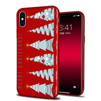 Wholesale Fluorescence Christmas Lighting - For apple iphoneX iphone 8 7 plus silicone TPU box Merry Christmas gift snow elk All-inclusive anti-drop cell phone cases