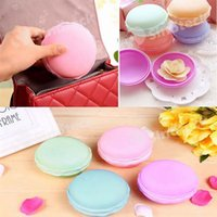 Wholesale Wholesale Valentine Containers - Macaron Cute Candy Color Mini Cosmetic Jewelry Storage Box Container Pill Case Charm Birthday Gift Valentine Chocolates Packing Free DHL