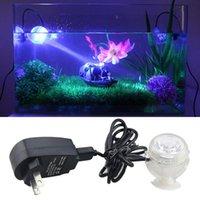 Wholesale Aquarium Touch - Luminaria 1W LED Night Light Aquarium Bubble Fish Tank Lamp Colors PVC Amphibious