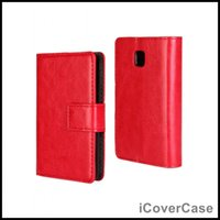 Wholesale Lg Optimus L3 Blue - Crazy Horse Wallet Leather Case Cover for LG Optimus L3 II E430 E425 with Card Holder