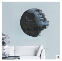 Wholesale Black Star Stickers Small - Star Wars Wall Stickers Home Decor Top Quality Death Star 3D Wallpapers Wall Decals Children Removable Novelty Wallpaper for Kids Room 00847