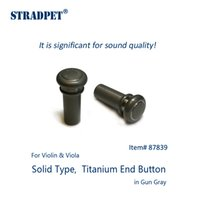 Wholesale violin types for sale - Group buy STRADPET titanium end button Solid type for violin and viola in gun gray or polished bright