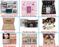 Wholesale Halloween Box Set - New Kylie Vacation Bundle Birthday Collection I WANT IT ALL the Box by Kylie Jenner Chrismas 2017 Holiday Edition Fall Collection Makeup Set