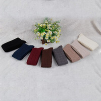 Wholesale Free White Pantyhose - Wholesale-Cotton Women Girls Knit Over Knee High Socks Pantyhose 7 colors for choose free shipping