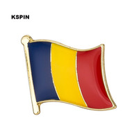 Wholesale Pins Flags - Free shipping the Romania Metal Flag Badge Flag Pin 10PCS