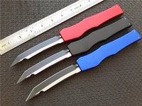 "Wholesale Machining Aluminum - Cncostco Halo V Tanto Knife T E Green 4.6"" Satin 150-10OD CNC D2 steel blade Machined aluminum handle Single action Pocket knives"