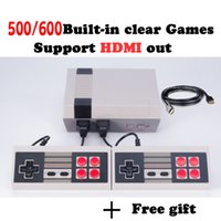 HDMI Output Retro Classic handheld game player Família TV videogame console Infância Built-in 500/600 Mini Console de jogos