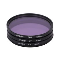 Wholesale 62mm Polarizer - Andoer 62mm Filter UV+CPL+FLD Circular Filter Kit Circular Polarizer Filter with Bag for Nikon Canon Pentax Sony DSLR Camera