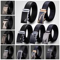 cinto de couro moda venda por atacado-Cinto de couro dos homens Moda cinta de fivela automática para o Negócio de Luxo casual Cintura Cintura Cinto Cinto 76 design KKA1361