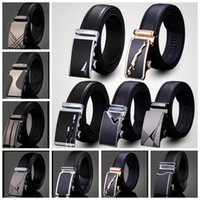 Wholesale Wholesale Leather Belt Straps - men's leather belt Fashion automatic buckle strap for Business Luxury casual Waist Strap Belt Waistband 80 design KKA1361