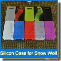 модный кейс снежный волк оптовых-Красочные Snow Wolf силиконовый чехол Snow Wolf 200 Вт случаи кожи мягкий силиконовый рукав обложка кожи для Snowwolf 200 Вт Box Mod