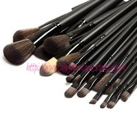 Wholesale best make up tools online - 2017 hot sale The Best Quality Makeup brushes Professional Make up Tools goat hair kit of Cosmetic Set Brush Black Leather Bag
