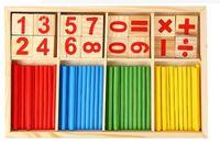 Wholesale Wooden Symbols - 10pcs  Educational Digital Symbols Mathematical Intelligence Stick Preschool Wooden Children Toys