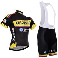 mayo sörfü toptan satış-Kolombiya balo kısa bisiklet jersey bisiklet takımı spor takım elbise bisiklet maillot ropa ciclismo bisiklet mtb bicicleta giyim seti